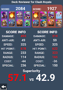 screenshot of Deck Reviewer for Clash Royale version 4.1.3