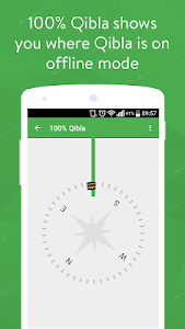 screenshot of 100% Qibla Finder version 1.1.2