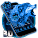 Download 3D Neon Vivid Wolf Theme 1.1.8 APK