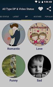 screenshot of All Type DP & Video Status version 1.11