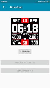 screenshot of Amazfit Bip WatchFaces version 1.0