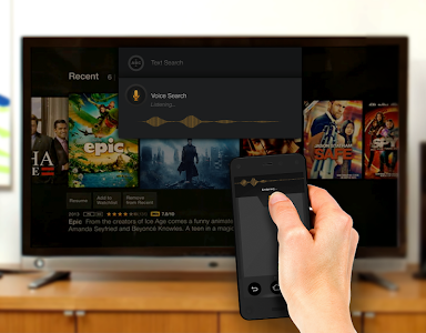 screenshot of Amazon Fire TV Remote App version 1.0.9.01