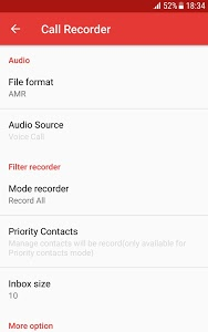 screenshot of Automatic Call Recorder - Free call recorder app version 1.2.9