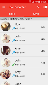 screenshot of Automatic Call Recorder version 1.0.1
