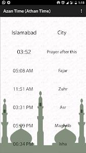 screenshot of Azan Time version 2.1