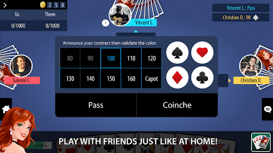 screenshot of Belote Multiplayer version Varies with device