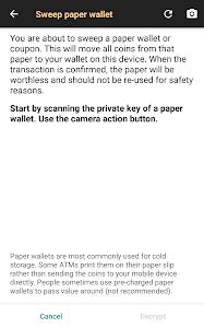 screenshot of Bitcoin Wallet version 6.38