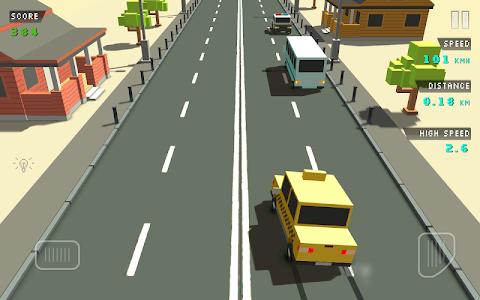 screenshot of Blocky Traffic Racer version 1.0