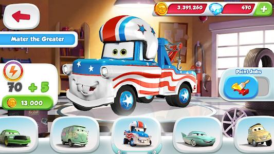 screenshot of Cars: Fast as Lightning version 1.3.4d