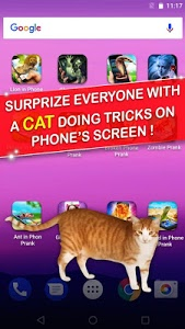 screenshot of Cat in Phone Prank version 1.2