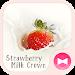 Download Cute Wallpaper Strawberry Milk Crown Theme 1.0.0 APK