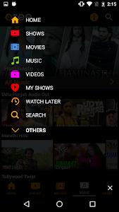 screenshot of OZEE TV Show Movie Music Video version 11.1.16