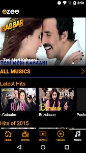 screenshot of OZEE - Entertainment Now version 11.0.8