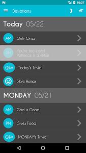 screenshot of Daily Bible Devotion version 5.36