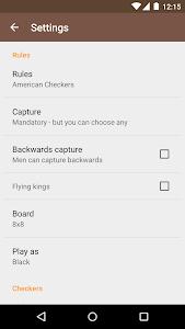 screenshot of Checkers version 1.11.5