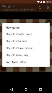 screenshot of Checkers version 1.15.0