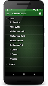 screenshot of Duaas and Surahs version 3.7.2