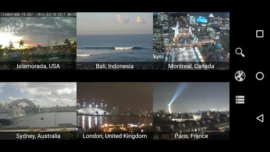screenshot of Earth Online: Live World Webcams & Cameras version 1.4.2
