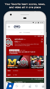 screenshot of FOX Sports Mobile version 4.0.2