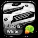 Download (FREE)GO SMS BLACK&WHITE THEME 3.3.1 APK