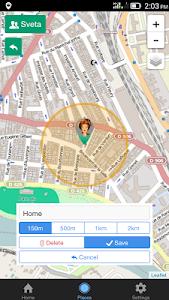 screenshot of Family GPS locator Kid Control version 2.3.9