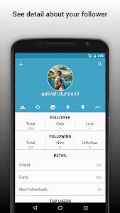 screenshot of Follower Analyzer (Instagram) version 4.2.4