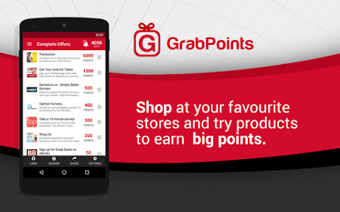 screenshot of GrabPoints - Free Gift Cards version 1.26