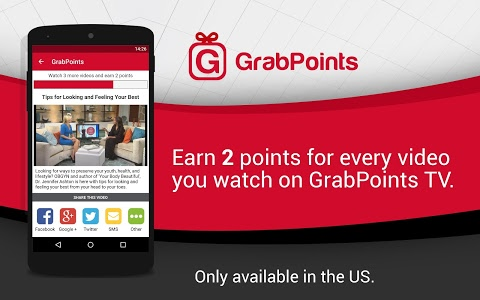screenshot of GrabPoints - Free Gift Cards version 1.51