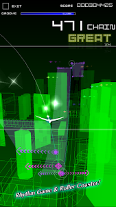 screenshot of Groove Coaster 2 version 1.0.14