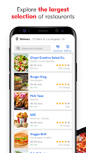 screenshot of Grubhub: Local Food Delivery version 7.24