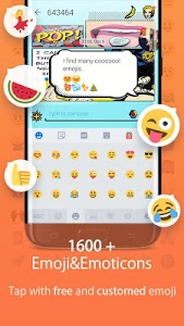 screenshot of Hi Keyboard - Emoji Sticker, GIF, Animated Theme version 1.22