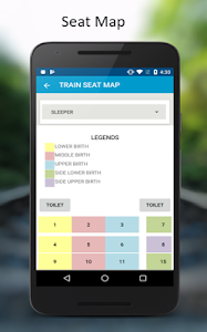 screenshot of IRCTC Rail Connect version 1.9