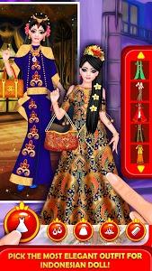 screenshot of Indonesian Doll Fashion Salon Dress up & Makeover version 1.8