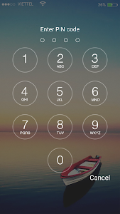 screenshot of Keypad lock screen version 3.2.2