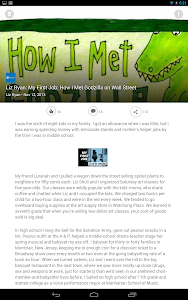 screenshot of LinkedIn Pulse version 4.2.7