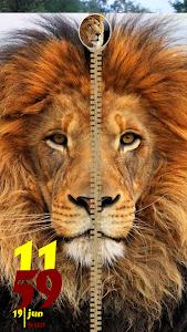 Download Lion Ziper Lock Screen 1 APK