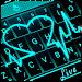 Download Live 3D Neon Blue Love Heart Keyboard Theme 6.10.16.2018 APK
