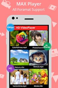 screenshot of MAX Player version 1.1