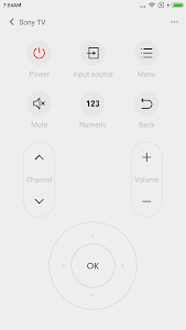 screenshot of Mi Remote controller for TV/AC version 5.1.4