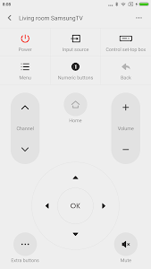 screenshot of Mi Remote controller for TV/AC version 5.4.1i