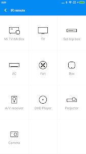 screenshot of Mi Remote controller for TV/AC version Varies with device