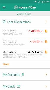 screenshot of Mobil Şube version 4.4.4