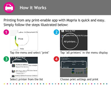 screenshot of Mopria Print Service version Varies with device