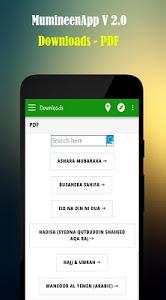 screenshot of MumineenApp version 6.0