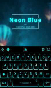 Download Simple Neon Blue Future Tech Keyboard Theme 6.8.15.2018 APK
