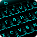 Simple Neon Blue Future Tech Keyboard Theme