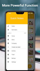 screenshot of Notes version 2.1.0