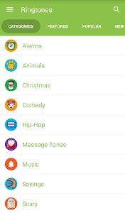 screenshot of Notification Ringtones version 1.0.6
