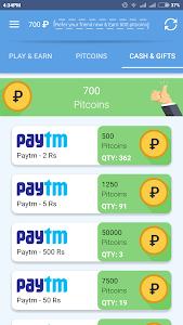 screenshot of PIPIT Free Paytm Cash,Recharge version 0.5.7