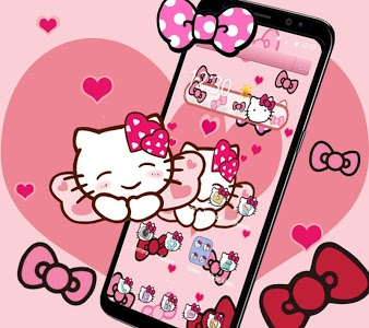 Download Pink Bowknot Princess Kitty Theme 1.1.5 APK